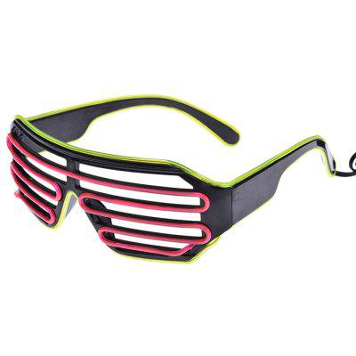 Electronic Tone Party Two-color EL Cold Light LED Blinds Luminous Glasses