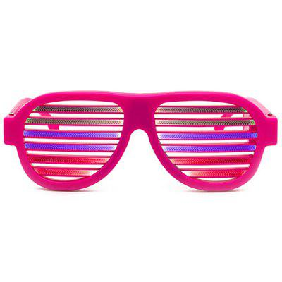 Charging Voice-activated Blinds Color LED Luminous Party Glasses