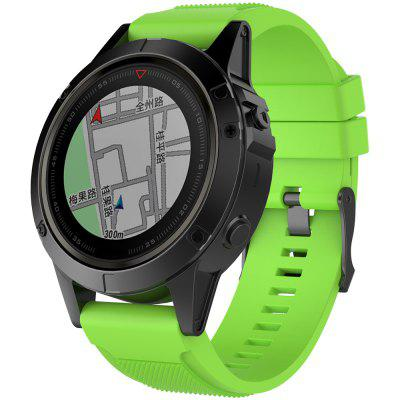 26 MM Quick Release-structuurband voor Garmin Fenix ​​5X Universal Silicone Smart Watch