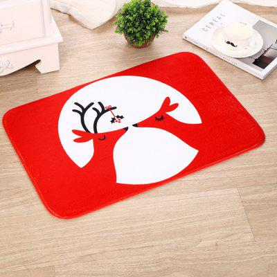 Christmas Decorations Flannel Christmas Mat Anti-slip Carpet
