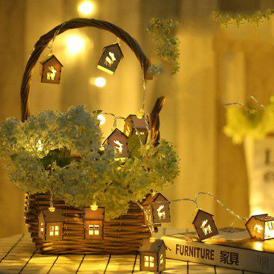 Wooden House Elk Lamp String Indoor Living Room Christmas Decoration Lamp