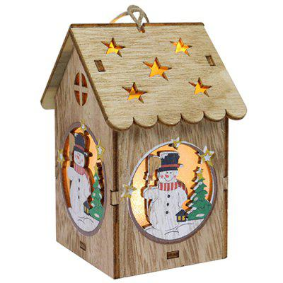 Creative Wooden Lighting Small House Gift Christmas Day Decoration
