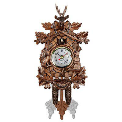3D Vintage Small Wooden Cuckoo Wall Pendulum Clock