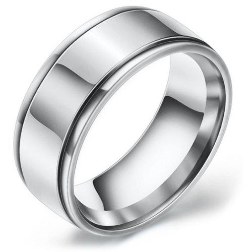 Stainless Steel Tribal Love Heart Flat Band Ring