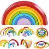 Wooden Stacking Rainbow Shape Children Educational Toy - MULTI