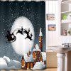 Merry Christmas 3D Digital Printing Polyester Shower Curtain Personality - MULTI-A