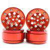WPL B1 B-1 B14 B-14 B16 B24 B-24 C14 C-14 C24 C-24 RC Car Spare Parts Metal Wheel Hub Gravel Tire - RUBY RED