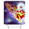 180 x 180cm Flying Christmas Sled 3D Digital Printing Thick Waterproof Mildew Resistant High-grade Polyester Shower Curtain - MULTI-A