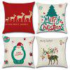 Christmas Decoration Cushion Cover Pillowcase - MULTI-A