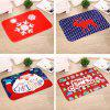 Christmas Decorations Flannel Christmas Mat - MULTI-C
