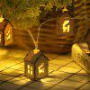 Wooden House Elk Lamp String Indoor Living Room Christmas Decoration Lamp - WOOD