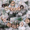 Christmas Tree Pendant DIY Painting Board Solid Wood Round Christmas Decoration 10pcs - CHAMPAGNE GOLD