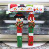 Christmas Home Decor Microwave Door Handle Cover Anti-static Protective Case 3pcs - MULTI-A