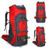 HU WAI JIAN FENG Large Capacity Travel Outdoor Backpack Sports Bag - RED