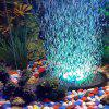 Romantic 7-color Slow Flash Bubble Aquarium Light for Submersible Fish Tank - BLACK