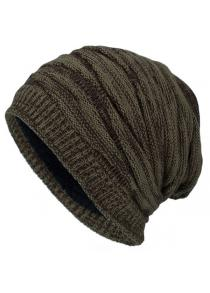 1% OFF Tide Knit Wool Winter Plus Velvet Warm Diamond Head - Gorro para hombre  al aire libre e56cec95457