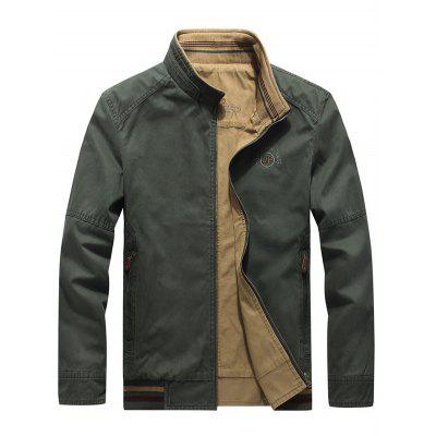 Men Outdoor Army Uniform Reversible Jacket