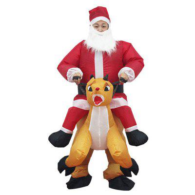 414 Christmas Bar Party Funny Clothing Old Man Inflatable Show Costume