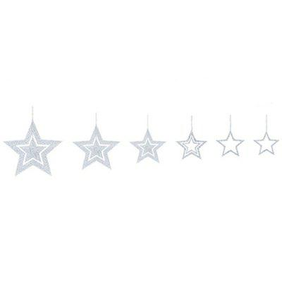 Party Decorations Christmas Decorations Openwork Star Charm 7pcs