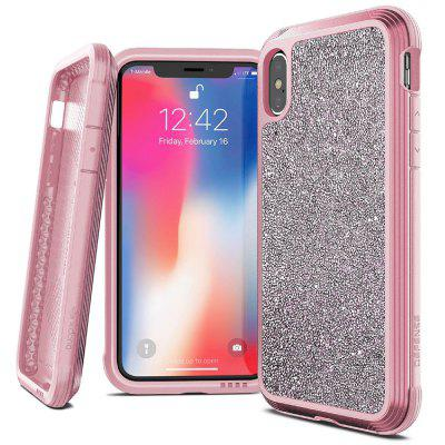 Metal Frame Leather Phone Case for iPhone XS
