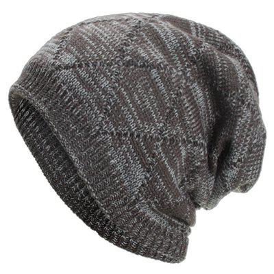 Plus Velvet Chaotic Large Diamond-shaped Sweater Cap