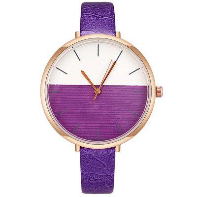 Trend Two-color Mirror Rose Gold Frame Noble Ladies Watch