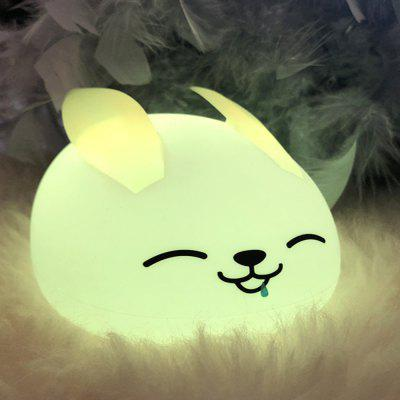 Colorful Anime Rabbit Silicone USB Charging Pat Night Light Creative Dream Bedroom Lamp
