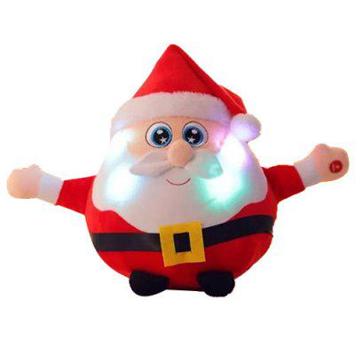 Shine Singing Music Babbo Natale Doll Plush Toy Elk Figurine Regalo di Natale