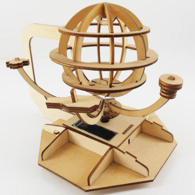 Solar Wooden DIY Assembled Toy