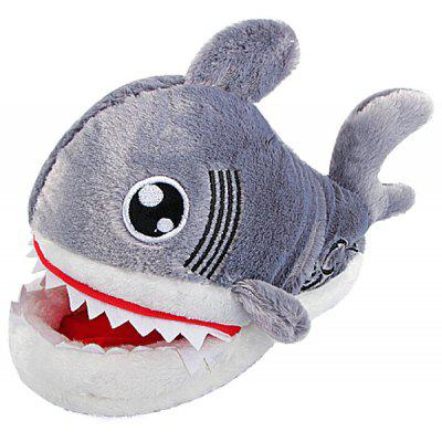 Creative Animal Cotton Shark Slippers Winter Indoor Shoes