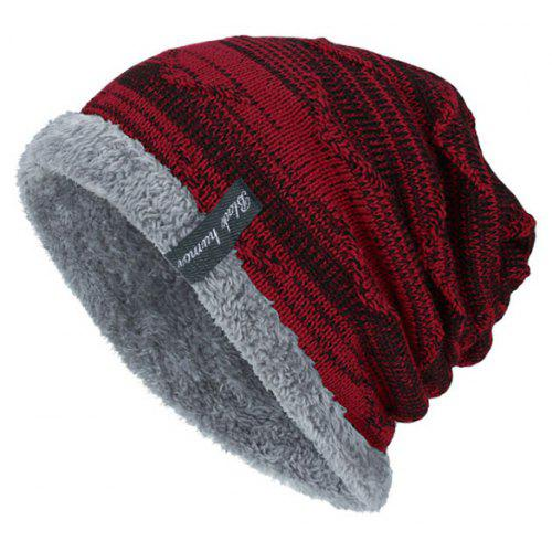 248bb3967c2 Tide Knit Wool Winter Plus Velvet Warm Hook Head Men s Outdoor Cap ...