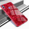 Glass Shell Mobile Phone Case for HUAWEI Honor 8C - RED