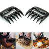 Barbecue Torn Meat Split Fork 2pcs - BLACK