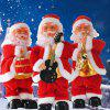 Santa Claus Electric Stepping Christmas Toy with Music - RED