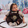 22 - 23 Inch Simulation Baby Rebirth Doll Strap Suits - BRąZOWY