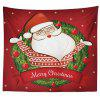 Decorative Tapestry Christmas Series TV Background Wall Landscape Polyester Cloth Lanyard - RED