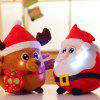 Shine Singing Music Babbo Natale Doll Plush Toy Elk Figurine Regalo di Natale - ROSSO
