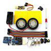 Gear Motor DIY Smart Car Robot Production - YELLOW