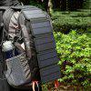 Solar Charging Panel Removable Folding Mobile Phone Charger - BLACK