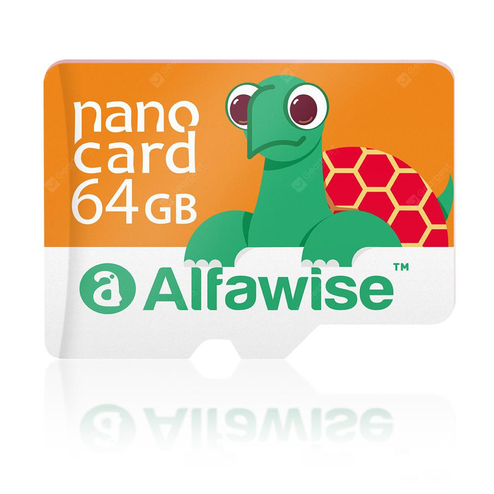 Alfawise 64GB High Speed High Capacity Micro SD Card - Multi Saffron 64GB