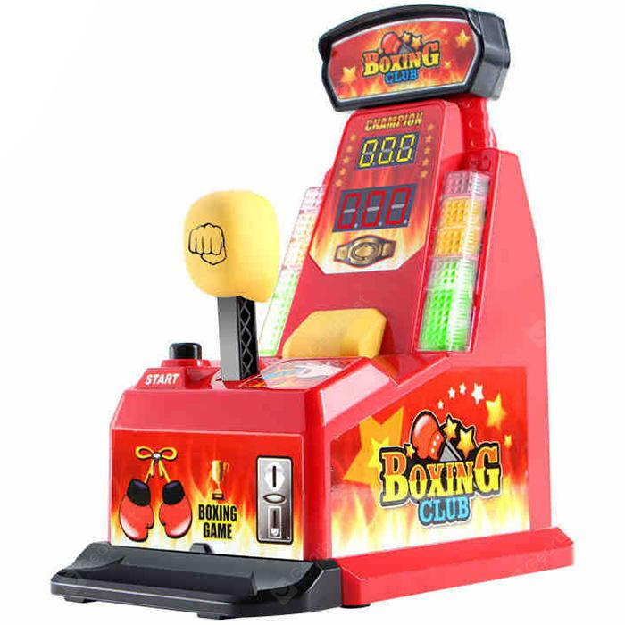 Finger Integrator Coin Operated Arcade Boxing Machine Toy - Red