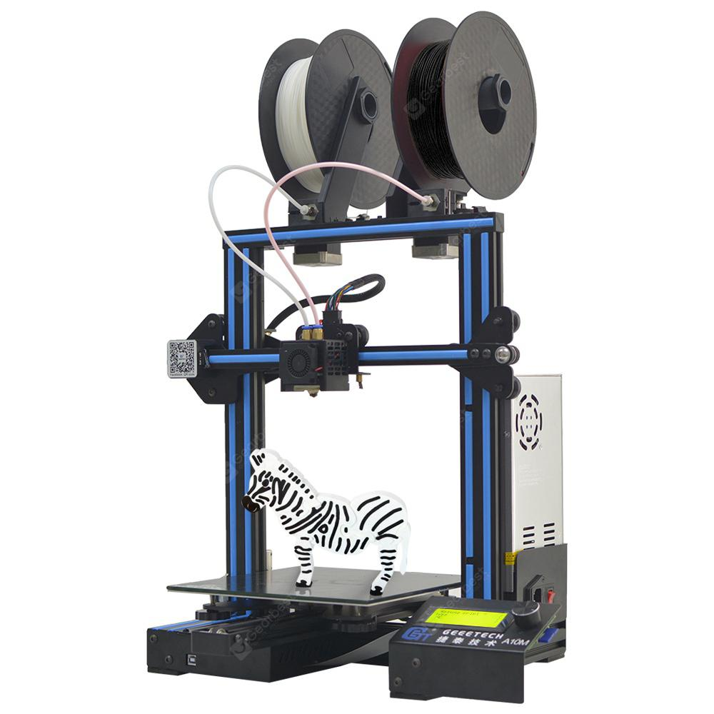 Geeetech A10M Mix-color 3D Printer - Blue Eyes US Plug