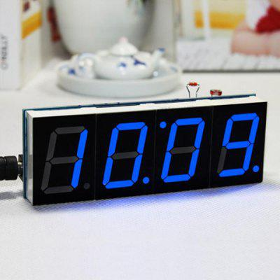 Temperature Light Control Edition LED Electronic Clock Kit