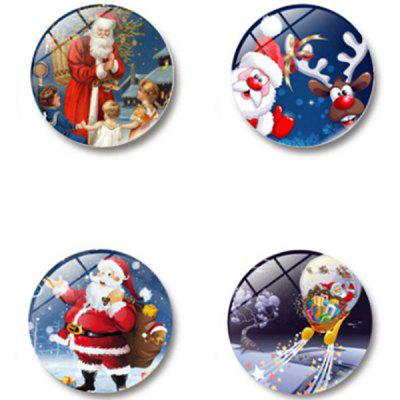 Creative Glass Magnetic Refrigerator Sticker 4pcs