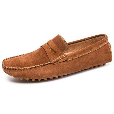 778 Men's Peas Shoes Large Size Leather Driving One Foot