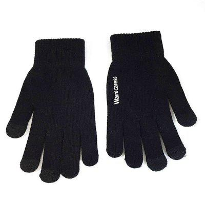 Men's Gloves Touch Screen Winter Knit Wool Non-slip