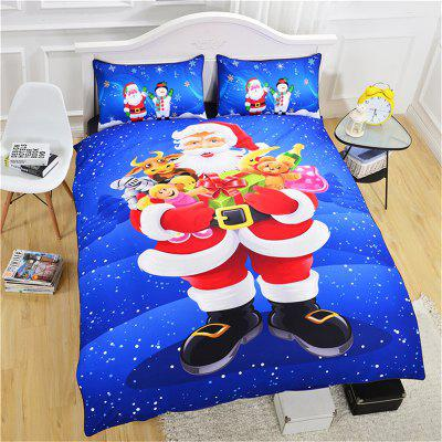 Christmas Series Quilt Home Textile Kit Bedding Three-piece Cool Pattern Couple Kit