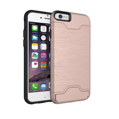 Shockproof Dual Layer Card Slot Holder Phone Case Cover With Kickstand For iPhone 6 / 6S