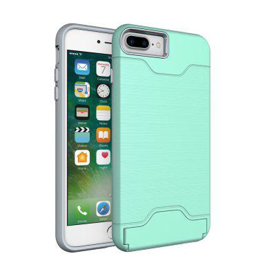 Stoßfestes Dual Layer-Kartensteckplatz-Handy-Cover mit Standfuß für iPhone 7 Plus / 8 Plus