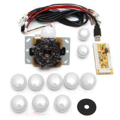 Game DIY Arcade Set Kits Replacement Parts USB Encoder to PC Joystick and Buttons